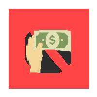 現金の手渡し禁止